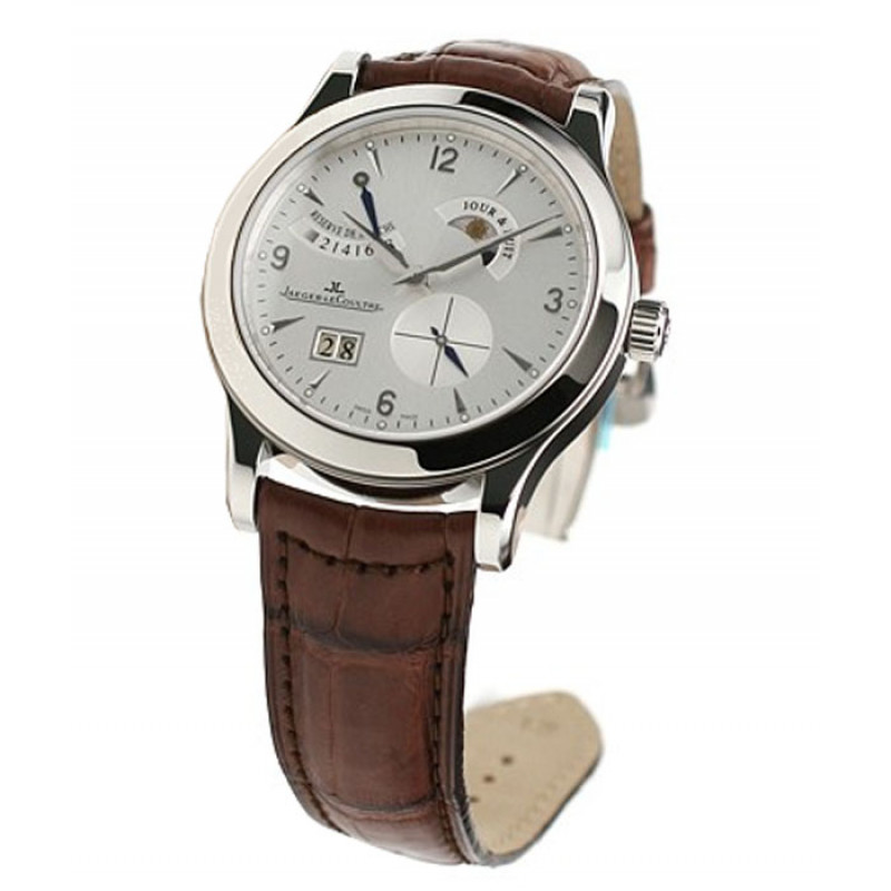 Jaeger LeCoultre Master Eight Days (SS / Silver / Leather)